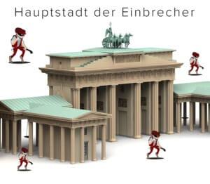 Einbrecher Hauptstadt Berlin - Einbrecher schleichen um das Brandenburger Tor herum